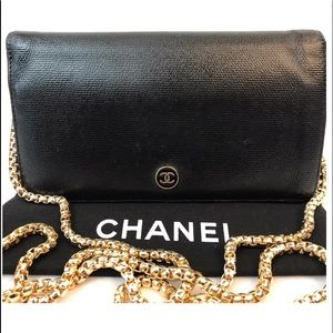 CERTIFIED AUTH. CHANEL CAVIAR CC LOGO LONG WALLET